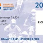 KNMV Basis Sportlicentie zonder tekst
